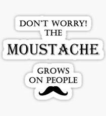 Moustache - Grows On People Sticker