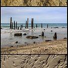 Port Willunga - triptych by Barb Leopold