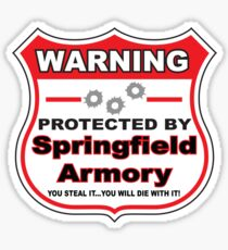 Springfield Protected by Springfield Sticker