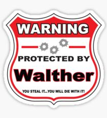 Walther Protected by Walther Sticker