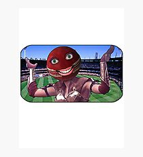 Cricket Ball Warrior Photographic Print