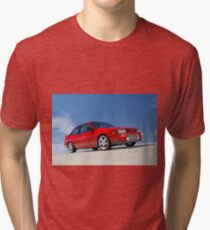 Red Ford Laser TX3 4WD Turbo Tri-blend T-Shirt