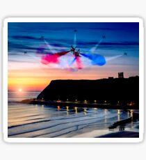 Red Dawn over Scarborough Sticker
