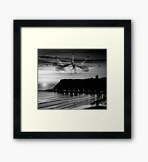 Red Dawn Over Scarborough Framed Print