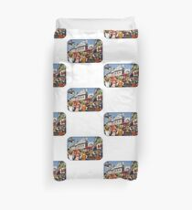 Picadilly Bigheads (London) Duvet Cover