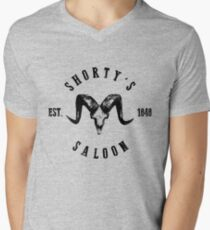 Shorty's Saloon Mens V-Neck T-Shirt