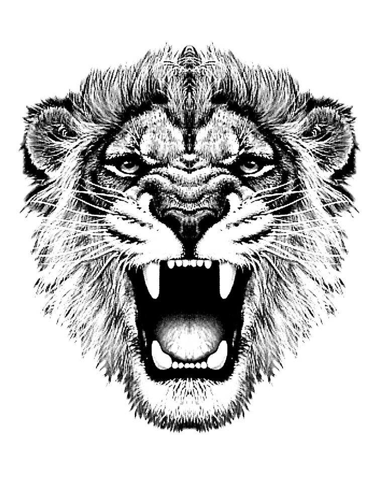 roaring lion t-shirt on lite by parko