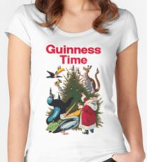 Guinness Time Christmas Women's Fitted Scoop T-Shirt