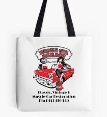Lous Muscle Car Garage Tote Bag