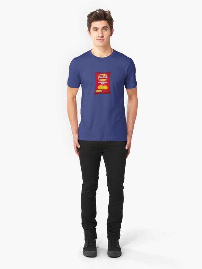 Alternate view of Your Crisps Are Both Lacklustre and Poo Slim Fit T-Shirt