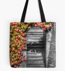 Stairway with autumn leaves Tote Bag
