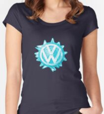 Aqua-blue VW look-a-like Swirl Women's Fitted Scoop T-Shirt