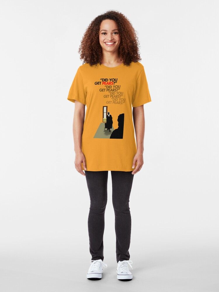 Alternate view of Did you get pears? Slim Fit T-Shirt