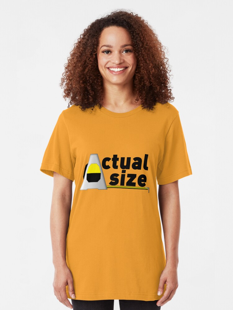 Alternate view of Actual Size Slim Fit T-Shirt