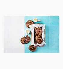 Fresh Chocolate Crispy Cookies with Sesame Photographic Print