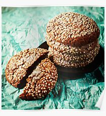 Fresh Baked Cookies with Sesame Poster