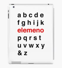 Little Kid Alphabet. iPad Case/Skin