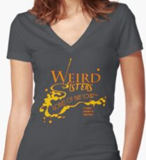 The Weird Sisters Goblet of Fire Tour '94 yellow Women's Fitted V-Neck T-Shirt