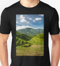 Landscape of rice terraces in china Unisex T-Shirt