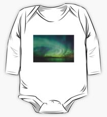 Northern lights over lake in Finland One Piece - Long Sleeve