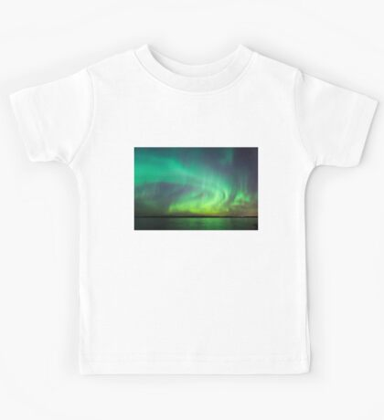 Northern lights over lake in Finland Kids Clothes