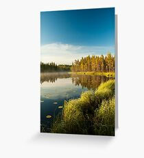 Morning at forest lake Greeting Card
