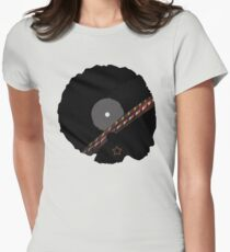 Afro Vinyl Record - African Woman Womens Fitted T-Shirt