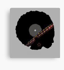 Afro Vinyl Record - African Woman Canvas Print