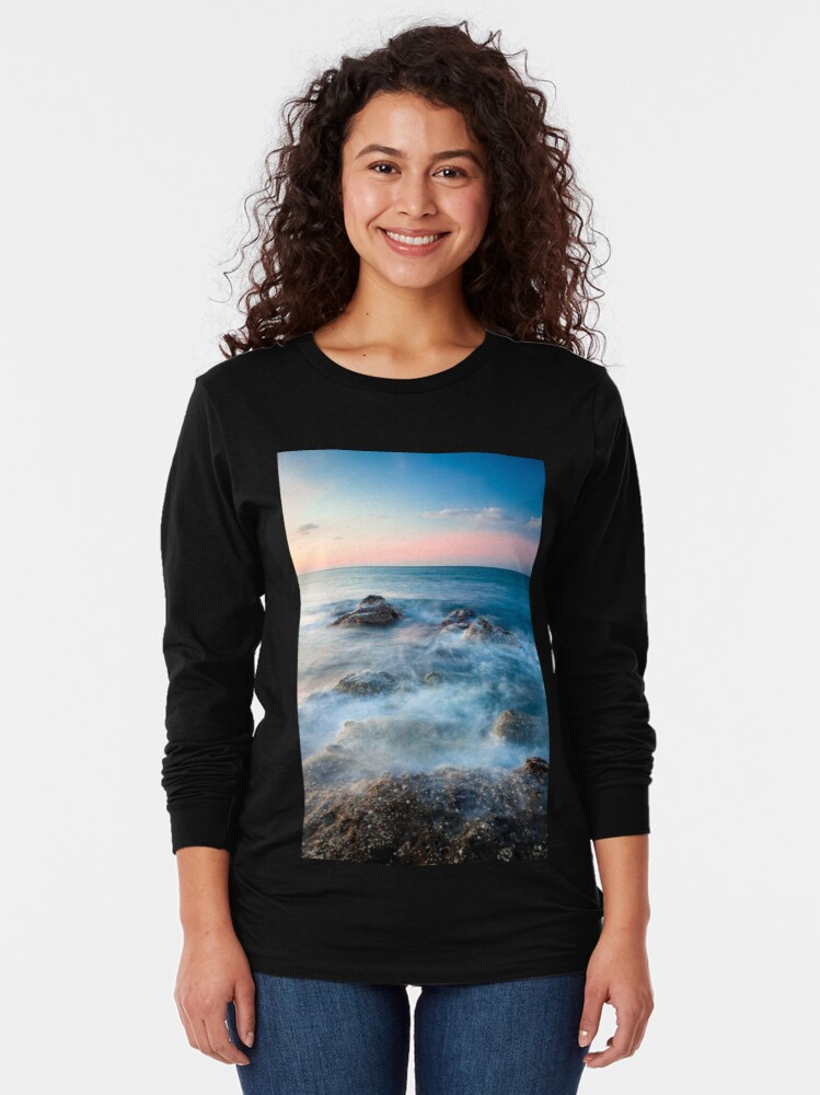 Alternate view of Waves and rocks long exposure Long Sleeve T-Shirt