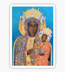 Our Lady of Czestochowa Black Madonna Poland Virgin Mary Painting Sticker