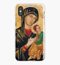 Our Lady of Perpetual Help, Russian orthodox icon, Madonna and Child, Virgin Mary  iPhone Case/Skin