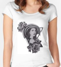 Lana Del Ray Drawing Women's Fitted Scoop T-Shirt