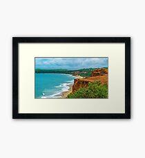 Aerial Landscape Scene Pipa Beach, Brazil Framed Print