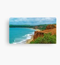 Aerial Landscape Scene Pipa Beach, Brazil Canvas Print