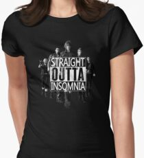 Straight Outta Insomnia Womens Fitted T-Shirt