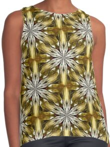 Abstract Flower Petals Pattern Contrast Tank