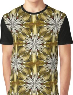 Abstract Flower Petals Pattern Graphic T-Shirt
