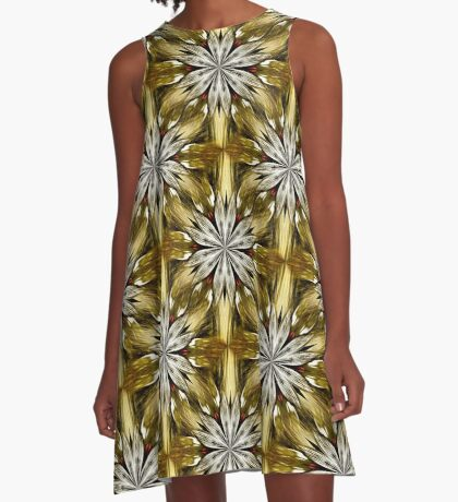 Abstract Flower Petals Pattern A-Line Dress