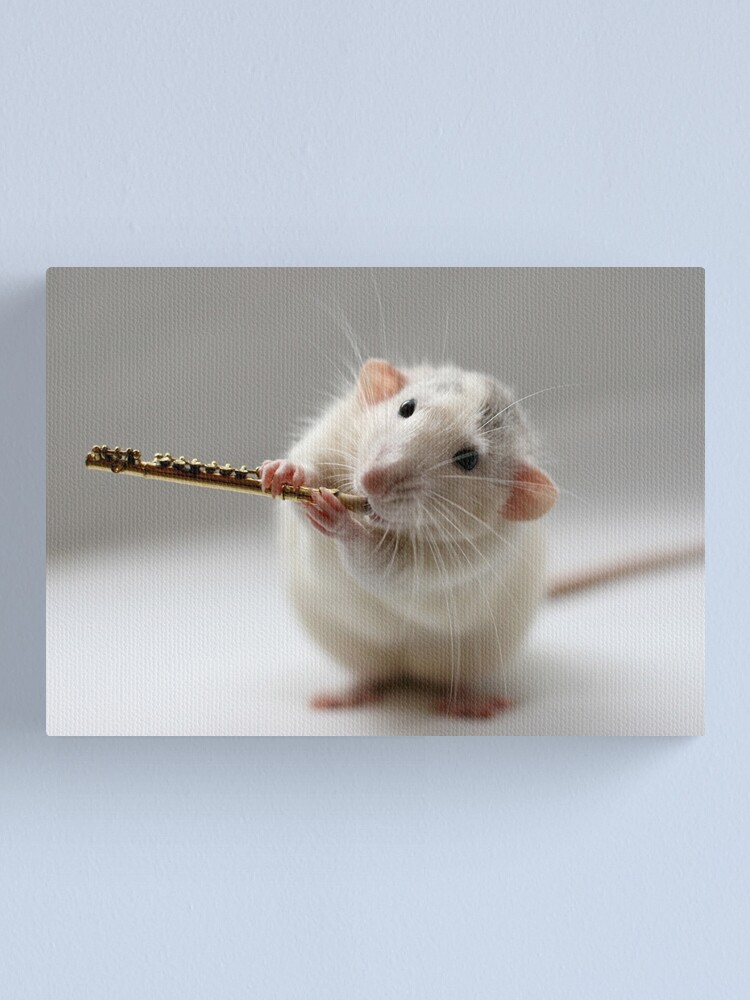 Alternate view of The flute Canvas Print