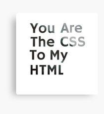 CSS/HTML Canvas Print