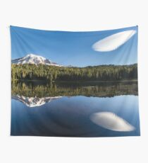 Mount Rainier and Reflection Lake Wall Tapestry