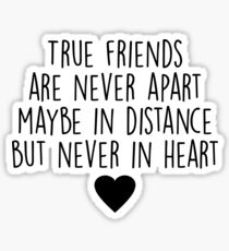 True friends are never apart Sticker