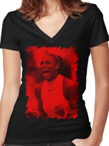 Serena Williams - Celebrity Women's Fitted V-Neck T-Shirt