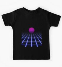 80s Digital Horizon - Sunset Aesthetic Kids Clothes