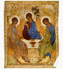 Holy Trinity Icon Christian Religious Wall art Poster