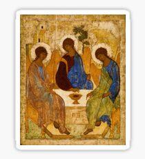 Holy Trinity Painting Rublev Trinity Print Icon Christian Religious Wall art Sticker