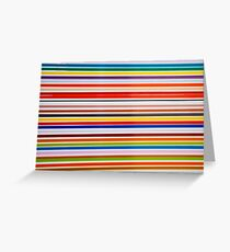 Colorful straight lines abstract background Greeting Card