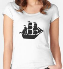 Pirate ship Women's Fitted Scoop T-Shirt
