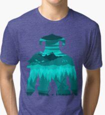 Dragonborn Silhouette Tri-blend T-Shirt