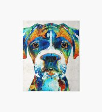 Colorful Boxer Dog Art By Sharon Cummings  Art Board